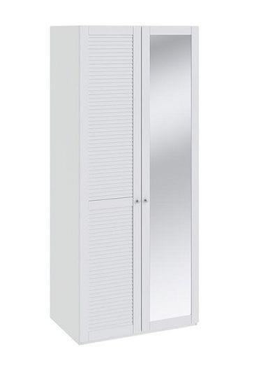 Шкаф для одежды с 1-ой глухой и 1-ой с зеркальной дверью «Ривьера», СМ 241.07.002 L