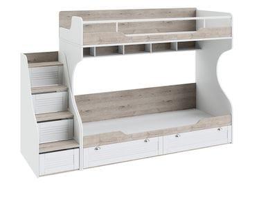 Кровать двухъярусная с приставной лестницей «Ривьера», СМ 241.11.12