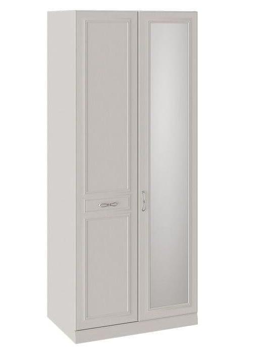Шкаф для одежды с 1 глухой и 1 зеркальной дверью левый с опорой «Сабрина», СМ-307.07.021-01L