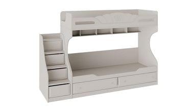 Кровать 2-х ярусная с приставной лестницей «Сабрина», СМ-307.11.001