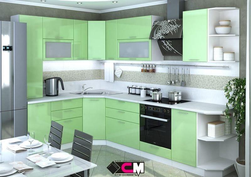 Кухонный гарнитур «Ксения», олива