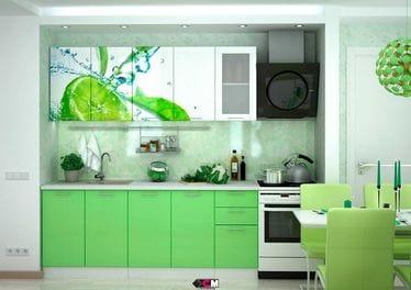 Кухня с фотопечатью «Лайм» 2.0