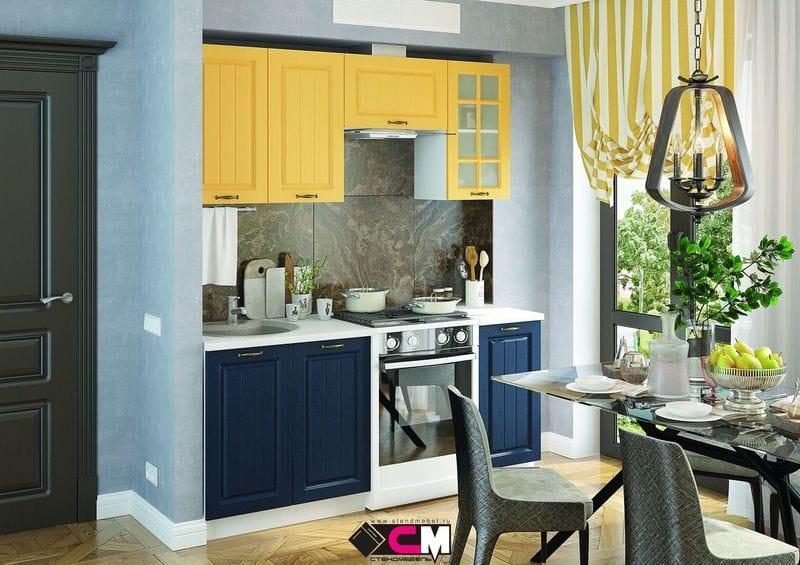 Кухонный гарнитур «Мария», синий