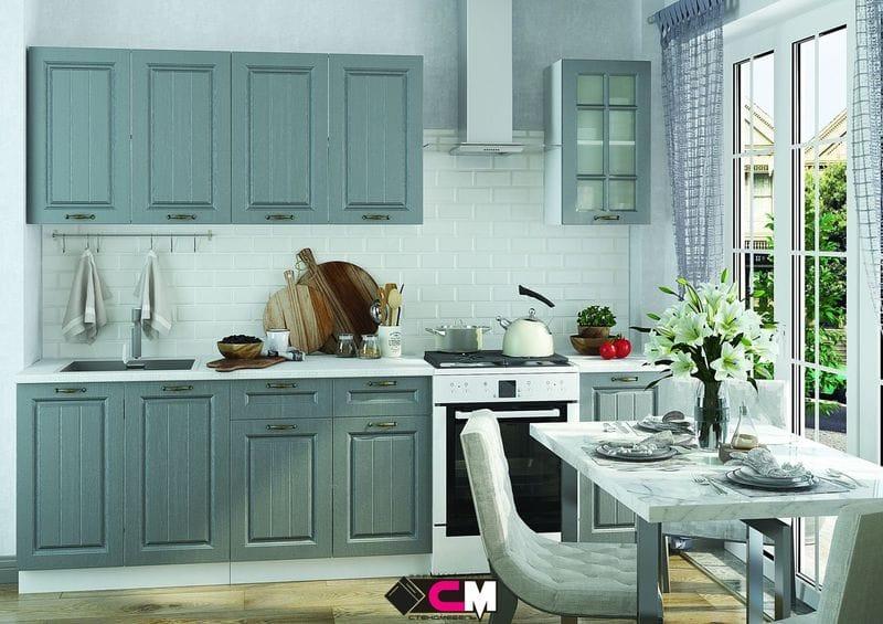 Кухонный гарнитур «Мария», сталь