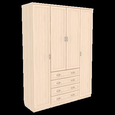 Шкаф для белья со штангой, полками и ящиками арт-110