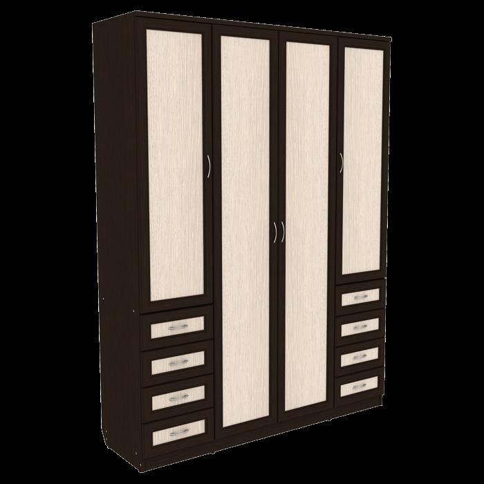 Шкаф для белья со штангой, полками и ящиками арт-112