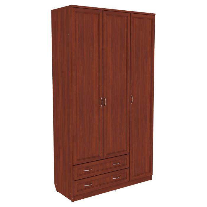 Шкаф для одежды со штангой, полками и ящиками арт-114