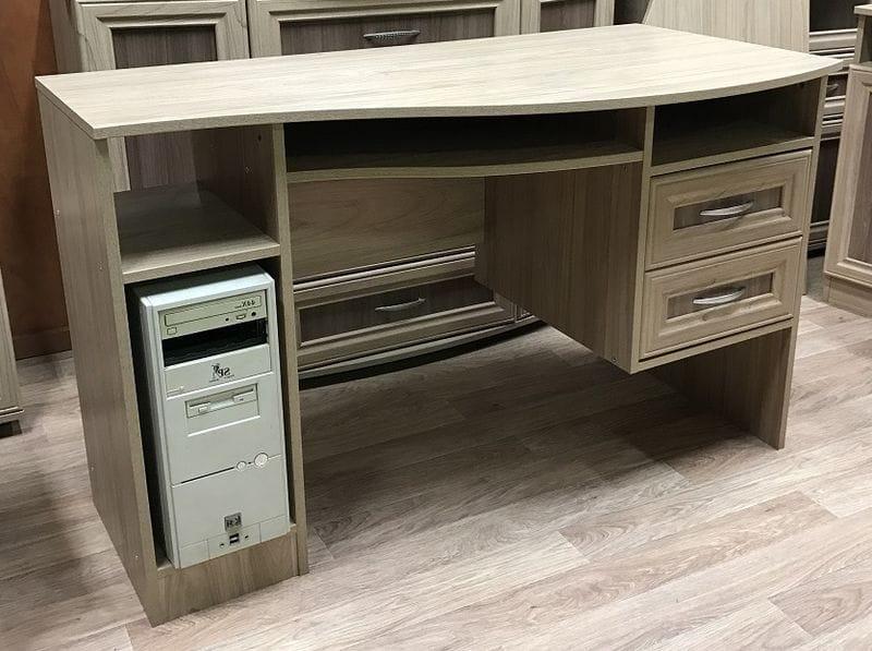 Компьютерный стол с тумбой, мод-176-лев