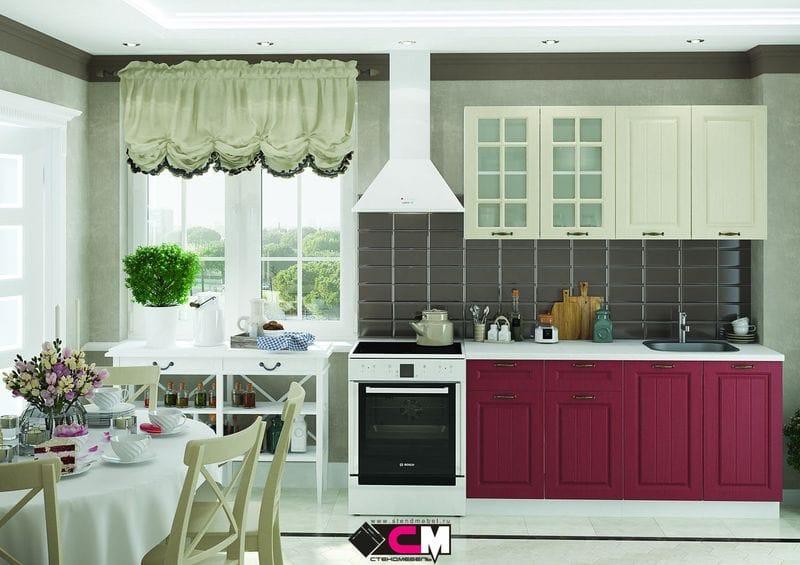 Кухонный гарнитур «Мария», бордо