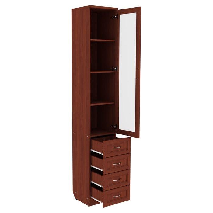 Шкаф для книг с ящиками узкий арт-205
