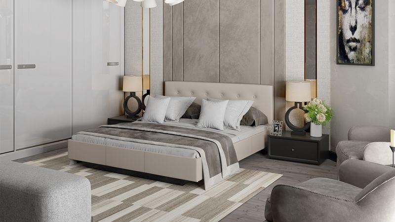 Кровать c мягкой обивкой тип 2 «Элис»