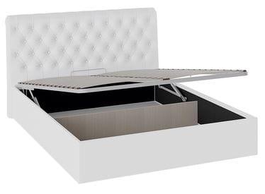 Кровать «Скарлет» с мягким изголовьем и подъемным механизмом (Белая)