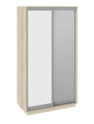 "Шкаф-купе 2-х дверный «Румер», СШК 1.120.60-11.13 ""дуб сонома-белый-зеркало"""