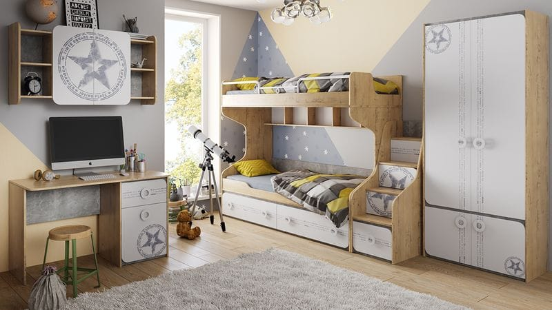 Набор детской мебели «Мегаполис» №1, ГН-315.001