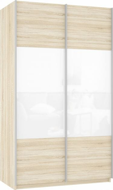Шкаф-купе 2-х дверный «Прайм» фасад ЛДСП/стекло