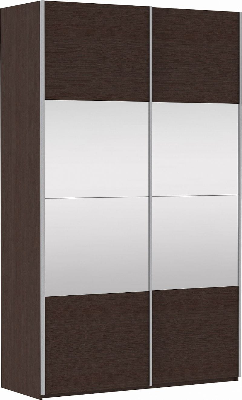 Шкаф-купе 2-х дверный «Прайм» фасад ЛДСП/зеркало