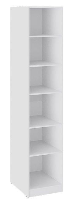 Шкаф для белья со стеклянной дверью «Глосс» (Белый глянец/Стекло)
