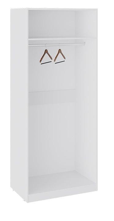 Шкаф для одежды «Глосс» (Белый глянец/Стекло)