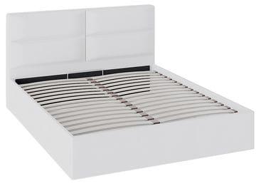 Кровать «Глосс» с мягкой обивкой и подъемным механизмом тип 1 (Белая)