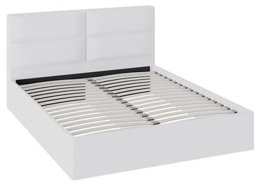 Кровать «Глосс» с мягкой обивкой тип 1 (Белая)