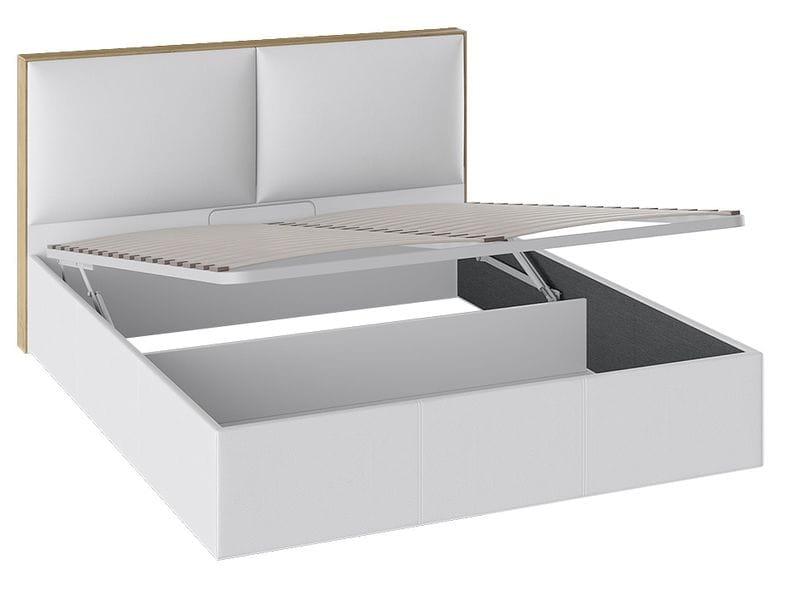 Кровать «Квадро» с мягкой обивкой и подъемным механизмом тип 1 (Белая), ТД 281.01.02