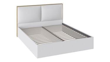 Кровать «Квадро» с мягкой обивкой тип 1 (Белая), ТД 281.01.01