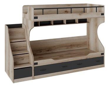 Кровать двухъярусная с приставной лестницей «Окланд» СМ-324.11.001