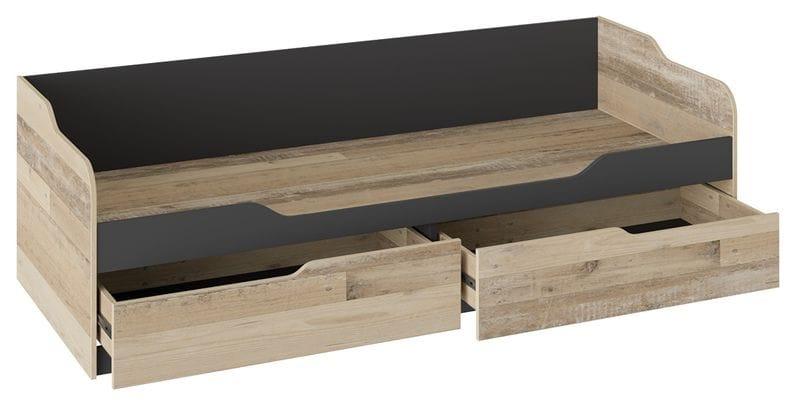 Кровать с 2 ящиками «Кристофер» (Фон Серый/Олд Стайл)