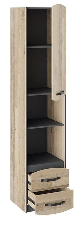 Шкаф комбинированный «Кристофер» (Фон Серый/Олд Стайл)