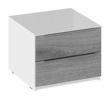 Тумба прикроватная с 2 ящиками «Синди» (Белый глянец/Дуб Гамильтон), ТД-320.03.03