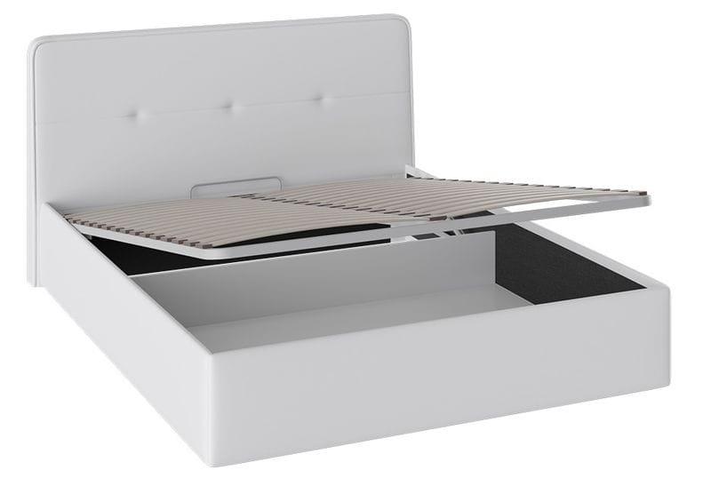 """Кровать «Синди» с мягкой обивкой и подъемным механизмом тип 1, """"белая"""""""