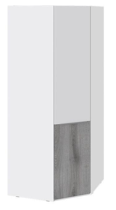 Шкаф угловой с 1 дверью «Синди» (Белый глянец/Дуб Гамильтон), СМ-320.07.313