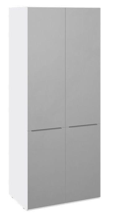 Шкаф для одежды с зеркалами «Синди» (Белый глянец/Дуб Гамильтон), СМ-320.07.215
