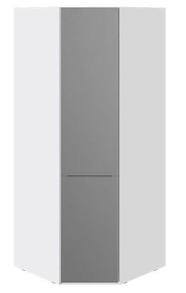 Шкаф угловой с зеркалом «Синди» (Белый глянец/Дуб Гамильтон), СМ-320.07.315