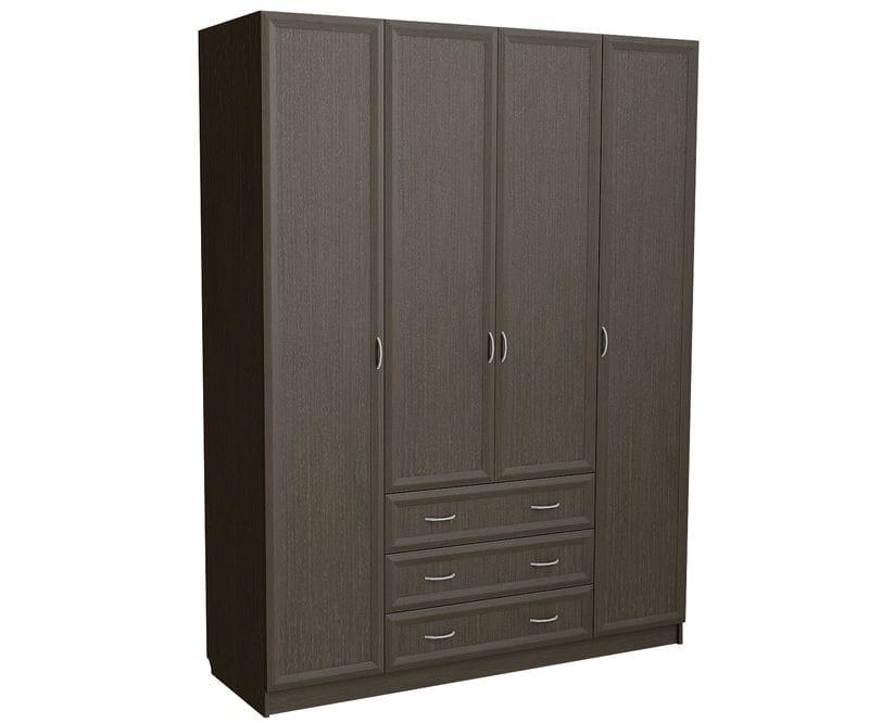 Шкаф для платья и белья 4-х дверный с 3-мя ящиками C 399 M