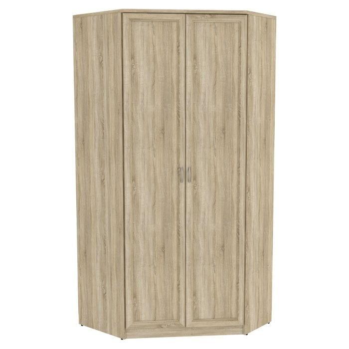 Угловой шкаф арт-403 несимметричный, со штангой и полками