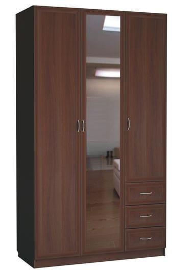 Шкаф для белья с зеркалом 3-х дверный С 485/1 M