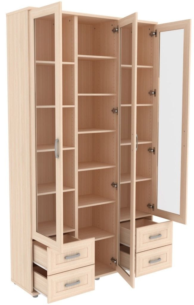 Шкаф для книг со стеклянными дверцами 503.08