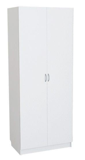 Шкаф белы для платья и белья 2-х дверный 802.54-54