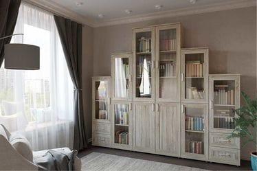 Библиотека со стеклянными дверцами и выдвижными ящиками , Гарун-К №5