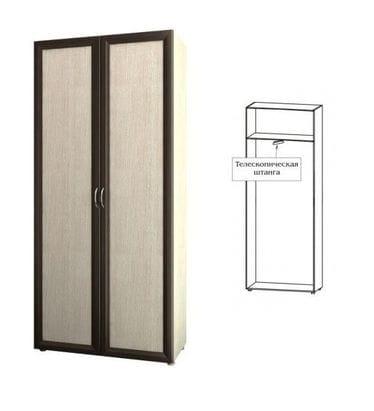 Шкаф для одежды узкий с выдвижной штангой 6.10