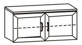 Полка навесная 2-х дв. 11.34