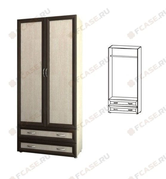 Шкаф 2-х дверный с 2-мя ящиками глубокий 5.14