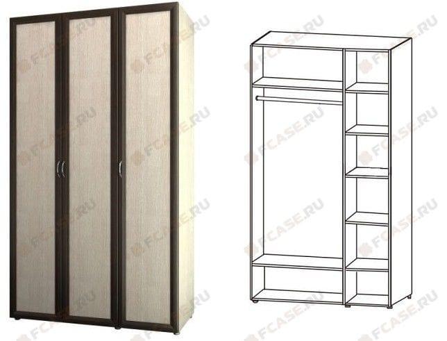 Шкаф 3-х дверный для одежды и белья 6.13