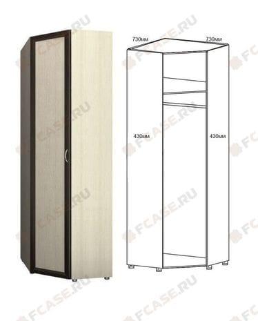 Шкаф угловой для одежды 1-но дверный 6.24