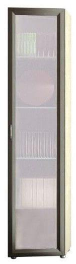 Шкаф 1-но дверный торцевой глубокий со стеклом 5.39
