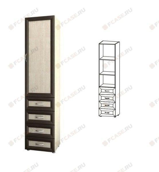 Шкаф 1-но дверный с 4-мя ящиками 5.03