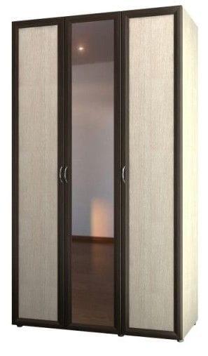 Шкаф 3-х дверный для одежды и белья с зеркалом 6.14