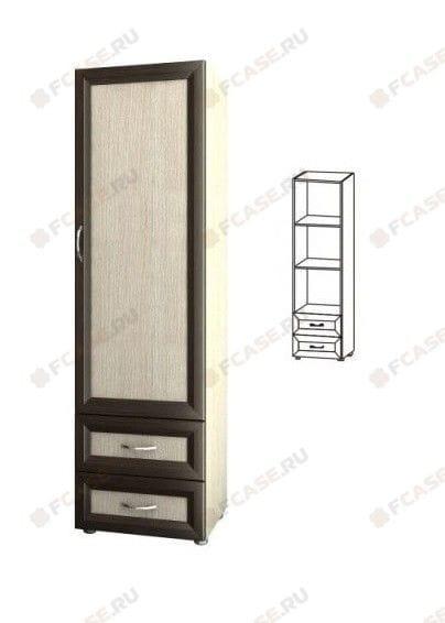 Шкаф 1-но дверный с двумя ящиками 4.04