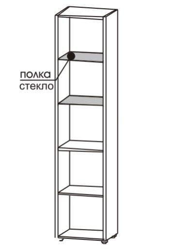 Шкаф 2-х дверный со стеклом 5.09